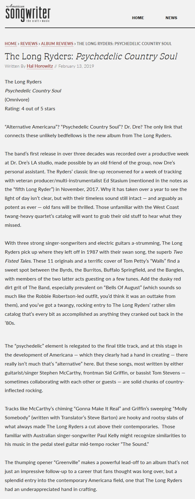 The Long Ryders - The Reviews