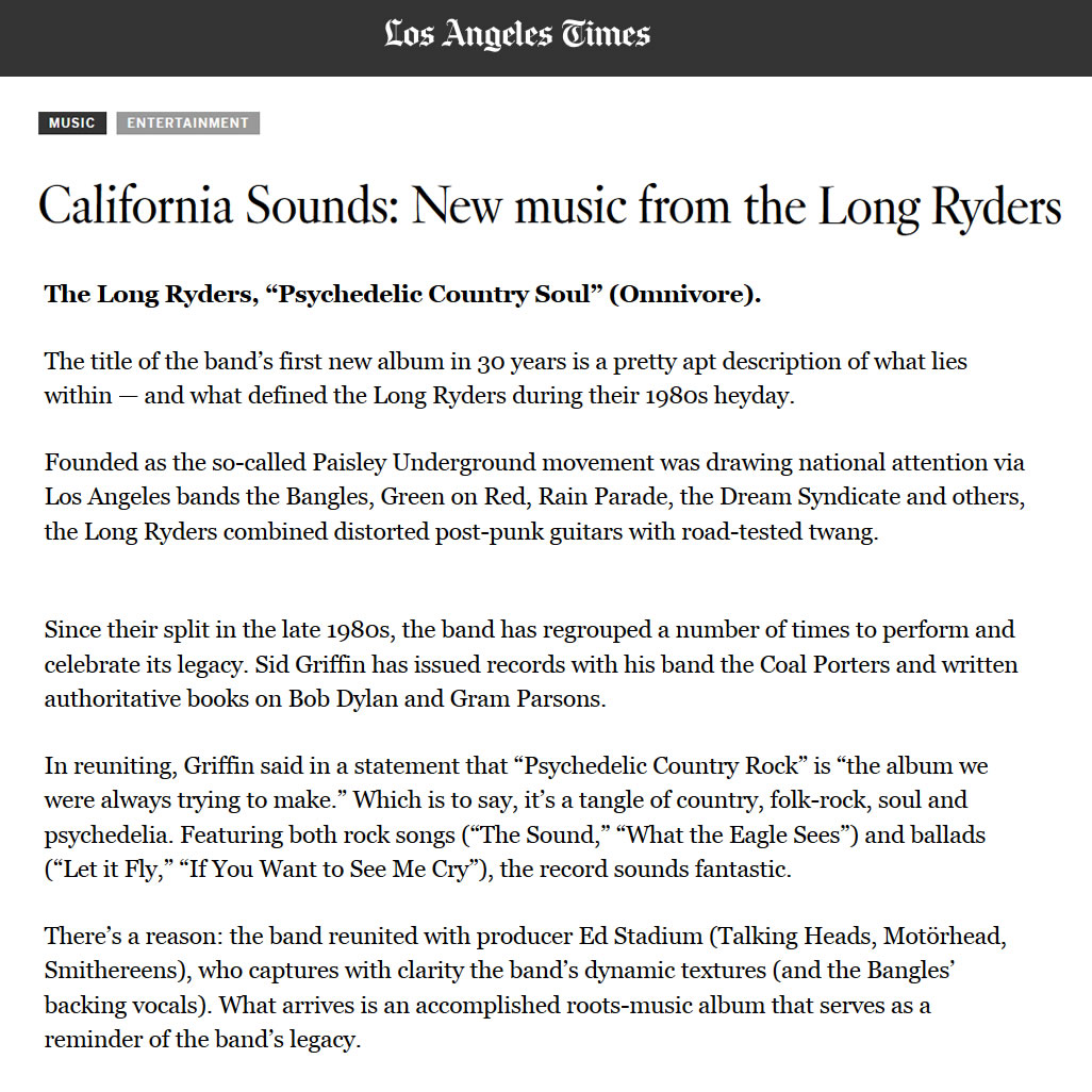 9ef3919204e LA Times review of Psychedelic Country Soul.