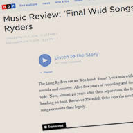 NPR Review of Final Wild Songs